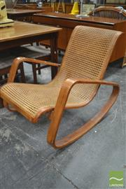 Sale 8326 - Lot 1060 - Bentwood & Cane Rocking Chair