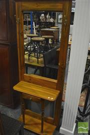 Sale 8341 - Lot 1048 - Timber Mirrored Back Hall Stand with Single Drawer