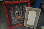 Sale 8525 - Lot 2068 - Teklie, Study from Bolshoi Ballet, Plus Portrait, Mixed Media