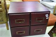 Sale 8532 - Lot 1375 - Timber Filing Unit with Four Drawers