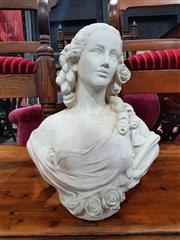 Sale 8925 - Lot 1023 - A composite bust of a scantily clad girl