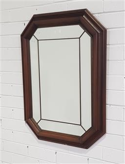Sale 9188 - Lot 1396A - Timber framed sectional mirror (84x64cm)