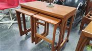Sale 8409 - Lot 1070 - McIntosh Nest of Tables with Fold Over Top