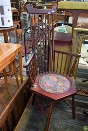Sale 8566 - Lot 1514 - High Spindle Back Carver Chair