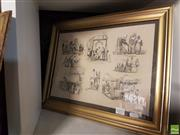 Sale 8573 - Lot 2077 - Pencil Sketches with White Highlight