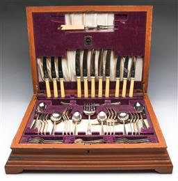Sale 9098 - Lot 113 - A Viner And Hall Cutlery Suite For Six In Canteen