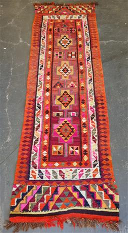 Sale 9174 - Lot 1358 - Possibly Moroccan kilim runner (310 x 94cm)