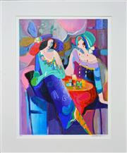 Sale 8112A - Lot 60 - Isaac Maimon (1951 - ) - Pastel Gathering, 2010 56 x 43cm