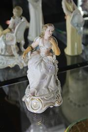 Sale 8189 - Lot 22 - Plaue Figure of a Seated Lady (Restored)