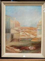 Sale 8437 - Lot 2012 - Sidney Nolan (1917 - 1992) Print - Deserted Township, Dawn 73 x 56cm