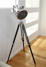 Sale 8450 - Lot 14 - Industrial Style Tripod Lamp, as new.