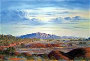 Sale 8507A - Lot 5028 - Jack Absalom (1927 - ) - Everard Ranges - Land of the Pitjantjatjara 43 x 60.5cm (sheet size)