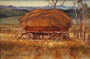 Sale 8652A - Lot 5096 - Terry Gleeson (1934 - 1976) - The Hay Rick, Flinders Ranges SA 19 x 29cm