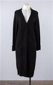 Sale 8760F - Lot 137 - A Massimo Dutti black wool-blend cardigan with splits, made in Italy, size large