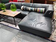 Sale 8777 - Lot 1015 - Leather Upholstered L-Shaped Lounge