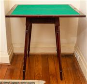 Sale 8882H - Lot 46 - A early C20th maple fold over card table on turned splayed legs. Height 76cm x 75 x 38cm