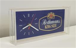 Sale 9151 - Lot 1146 - Early Rothmans perspex mantle clock (h106 x w33 x d6cm)