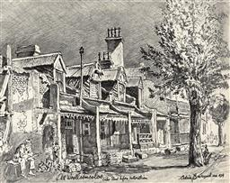Sale 9256A - Lot 5045 - CEDRIC EMANUEL (1906-1995) - Old Woolloomooloo (Forbes Street before Restoration), 1979 graphite pencil on paper 22 x 28 cm (frame:...