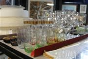 Sale 8346 - Lot 97 - Orrefors Crystal Wine Glasses with Other Glass Wares incl. Coloured Water Glasses