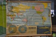 Sale 8364 - Lot 1077 - Vintage Map of The World and Solar System