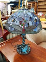 Sale 8680 - Lot 1091 - Leadlight Shade Table Lamp