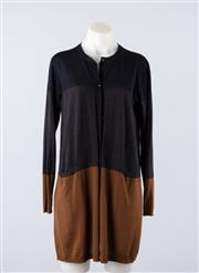 Sale 8760F - Lot 91 - A Max Mara navy, charcoal and brown cardigan, size 44