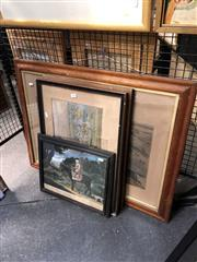 Sale 8856 - Lot 2042 - Group of Four Various Engravings incl: After Charles Hunt Northhampton Grand National Steeple Chase 64 x 85cm (antique frame), & P...