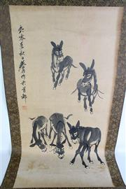 Sale 8909S - Lot 634 - Donkey Themed Chinese Scroll