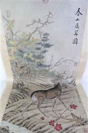 Sale 8913C - Lot 73 - Deer Themed Chinese Scroll