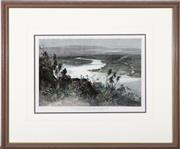 Sale 9016 - Lot 2030 - An engraving of the Endeavour River North Queensland circa 1890, Total frame size 44cm x 52cm