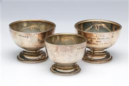 Sale 9098 - Lot 270 - Group of Three Silver Goblets (Tallest - h:5.5cm)