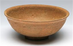 Sale 9144 - Lot 425 - Early earthenware Chinese bowl, as inspected with small chip D18cm