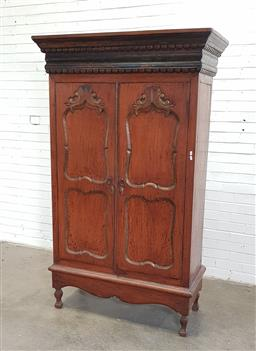 Sale 9154 - Lot 1007 - French Armoire, key in office (h:196 x w:118 x d:56cm)