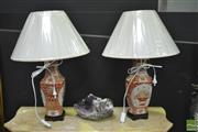 Sale 8312 - Lot 1010 - Pair of Basket Decoration Table Lamps (4533)