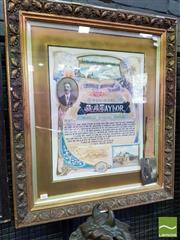 Sale 8500 - Lot 1061 - Manly Police Force Illuminated Address, for sergeant Alexander James Taylor, 4th February 1909, on his departure & undersigned by Ma...