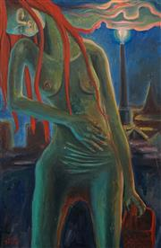 Sale 8503 - Lot 2096 - S. Detu - Woman in Dreamscape 101 x 66cm