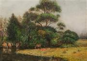 Sale 8665A - Lot 5092 - Alfred James Daplyn (1844 - 1926) - Oronga Creek, Hawkesbury River 36 x 51cm