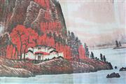 Sale 8909S - Lot 665 - River And Mountain Chinese Scroll