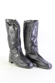 Sale 8952 - Lot 85 - Pair Of Black Military High Combat Boots (Size 11)