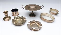 Sale 9098 - Lot 263 - Group of Sterling Silver Wares incl. Ashtrays