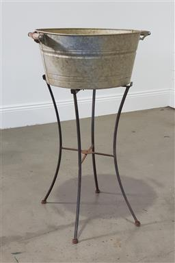 Sale 9255 - Lot 1427A - Ice bucket on stand (h95 x d62cm)