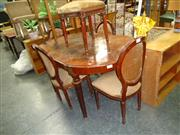 Sale 7944A - Lot 1076 - Seven Piece Dining Setting Inc Table, Sideboard & Five Chairs (42)