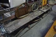 Sale 8066 - Lot 1098 - Pair of Timber Benches