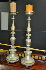 Sale 8093 - Lot 1002 - Pair of Brass Candle Sticks