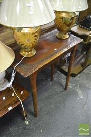 Sale 8338 - Lot 1447 - Heavily Carved Side Table on Bamboo Style Legs