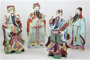 Sale 8477 - Lot 73 - Chinese Immortal Ceramic Figures (4)
