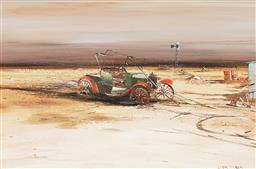 Sale 9150 - Lot 571 - COLIN PARKER (1941 - ) Discarded Model T oil on board 39.5 x 59.5 cm (frame: 62 x 82 x 4 cm) signed lower right
