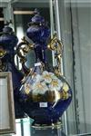 Sale 7851 - Lot 24 - Tall Blue & Gilt Handpainted Vase, Stamped to Base