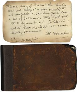Sale 7919A - Lot 1811 - Saverns Diary 1874 with Houdini Inscription