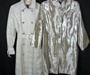 Sale 7982B - Lot 80 - Stella McCartney, silver three quarter length jacket and another (M)